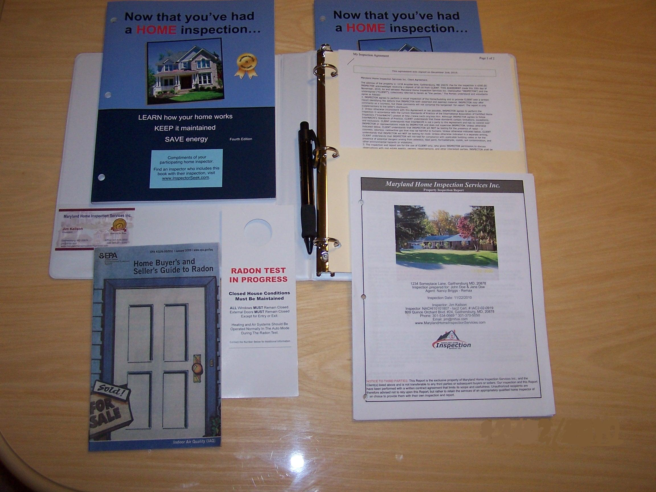 Maryland Home Inspection Reports